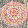 Round Beach Towel Yoga Mat Printed Circular Scarf Chiffon Shawl Outdoor Hippie Blanket Best Price 3