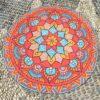 Round Beach Towel Yoga Mat Printed Circular Scarf Chiffon Shawl Outdoor Hippie Blanket Best Price 4