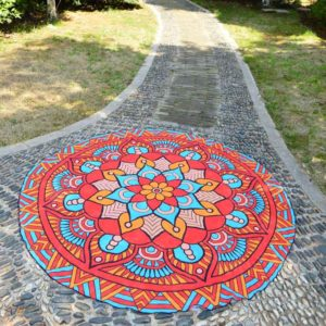 Round Beach Towel Yoga Mat Printed Circular Scarf Chiffon Shawl Outdoor Hippie Blanket Best Price