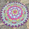 Round Beach Towel Yoga Mat Printed Circular Scarf Chiffon Shawl Outdoor Hippie Blanket Best Price 5