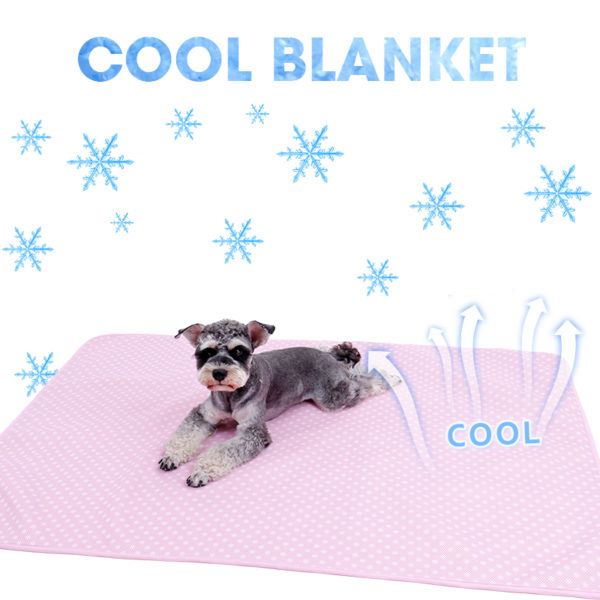 Self-cooling Pet Blanket for Dog Cats Ultra Soft Breathable Sleep Pad Heat Relief In Summer Material Snuggly Mat for All Seasan