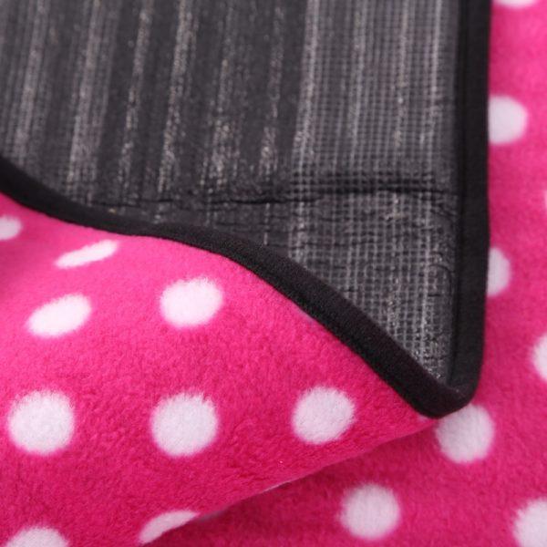 Sew Crane Multi-functional Picnic Blanket Outdoor Camping Rug Beach Mat Travel Play Mat, Pink Polka Dot
