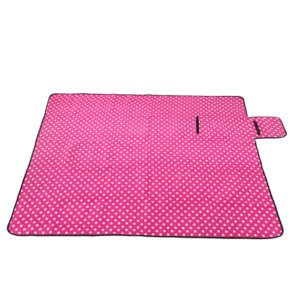 Sew Crane Multi-functional Picnic Blanket Outdoor Camping Rug Beach Mat Travel Play Mat, Pink Polka Dot