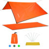 TOMSHOO Camping Mat Ultralight Outdoor Waterproof Tent Tarp Footprint Ground Sheet Mat Blanket Canopy for Camping Hiking Picnic 4