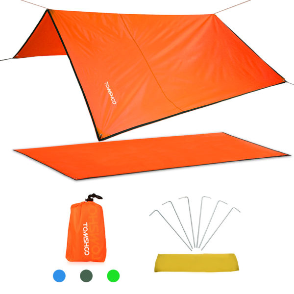 TOMSHOO Camping Mat Ultralight Outdoor Waterproof Tent Tarp Footprint Ground Sheet Mat Blanket Canopy for Camping Hiking Picnic