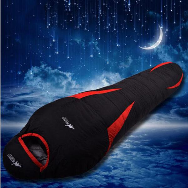 Ultralight Down Sport Hiking Sleeping Bags Outdoor Winter Camping Duck Down Adult Mummy Waterproof Sleeping Bags 3 Colour