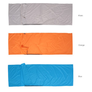 Ultralight design Outdoor Sleeping Bag 70 * 210cm Camping Hiking Bag Liner Portable folding Travel Bags 3 Colors