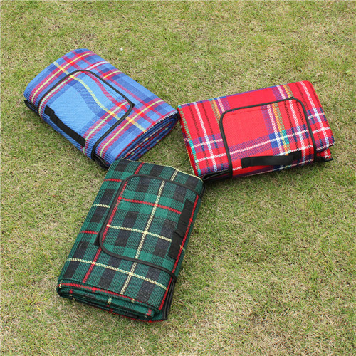 VILEAD 5 Size Outdoor Beach Picnic Folding Camping Mat Waterproof Sleeping Camping Pad Mat Moistureproof Plaid Blanket