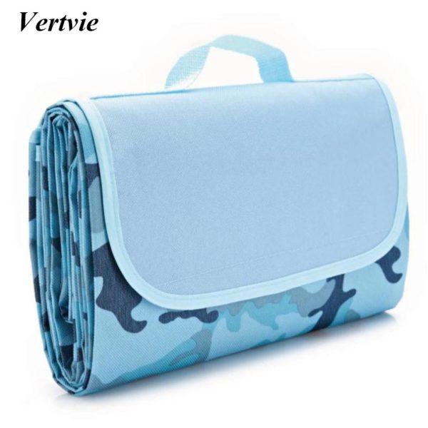 Vertvie 145x180cm Waterproof Foldable Outdoor Camping Mat Widen Picnic Mat Plaid Beach Blanket Baby Multiplayer Tourist Mat