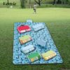 Vertvie Foldable Camping Mat Widen Picnic Mat Plaid Beach Blanket Baby Outdoor Waterproof Mat Blanket Cover For Picnic BeachPad