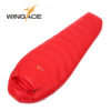 WINGACE Fill 1000G Goose down sleeping bag adult mummy ultralight hike winter outdoor Equipment camping sleep bags custom 2