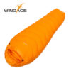 WINGACE Fill 1000G Goose down sleeping bag adult mummy ultralight hike winter outdoor Equipment camping sleep bags custom