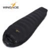 WINGACE Fill 1000G Goose down sleeping bag adult mummy ultralight hike winter outdoor Equipment camping sleep bags custom 4