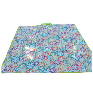 Waterproof Carpet Blanket Outdoor Beach Camping Picnic Mat 150x130cm, Multicolor-Stripe