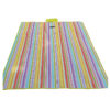 Waterproof Carpet Blanket Outdoor Beach Camping Picnic Mat 150x130cm, Multicolor-Stripe