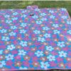 Waterproof Carpet Blanket Outdoor Beach Camping Picnic Mat 150x80cm, Purple-Flower 2