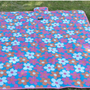 Waterproof Carpet Blanket Outdoor Beach Camping Picnic Mat 150x80cm, Purple-Flower