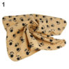 Wholesale Pet Cat Kitten Dog Puppy Winter Blanket Warm Beds Mat Cover Soft Fleece Paw Print 7KIO 4