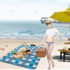 Wind Tour Beach Camping Mat 5 Colors Waterproof Outdoor Picnic Pad Baby Climb Ground Plaid Moistureproof Blanket 2*1.5m
