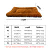 Winter Dog Cat Cushion Mat Soft Puppy Sleep Bed Kennel Warm Thick Pet Blanket Pad Matress Sofa For Small Medium Large Dogs XS-XL 6