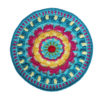 hot sales handmade cupmat colourful fashion house moving gift house and living blanket placemat crochet handmade 28cm 2